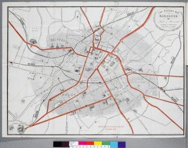 Map Manchester 1857