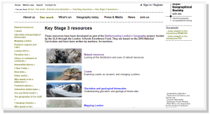 Royal Geographical Society Key Stage 3 Resources